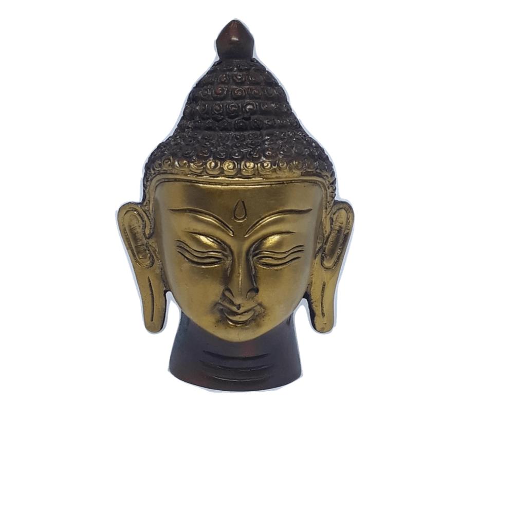 Cabeça de Buda de Bronze 10 Cm