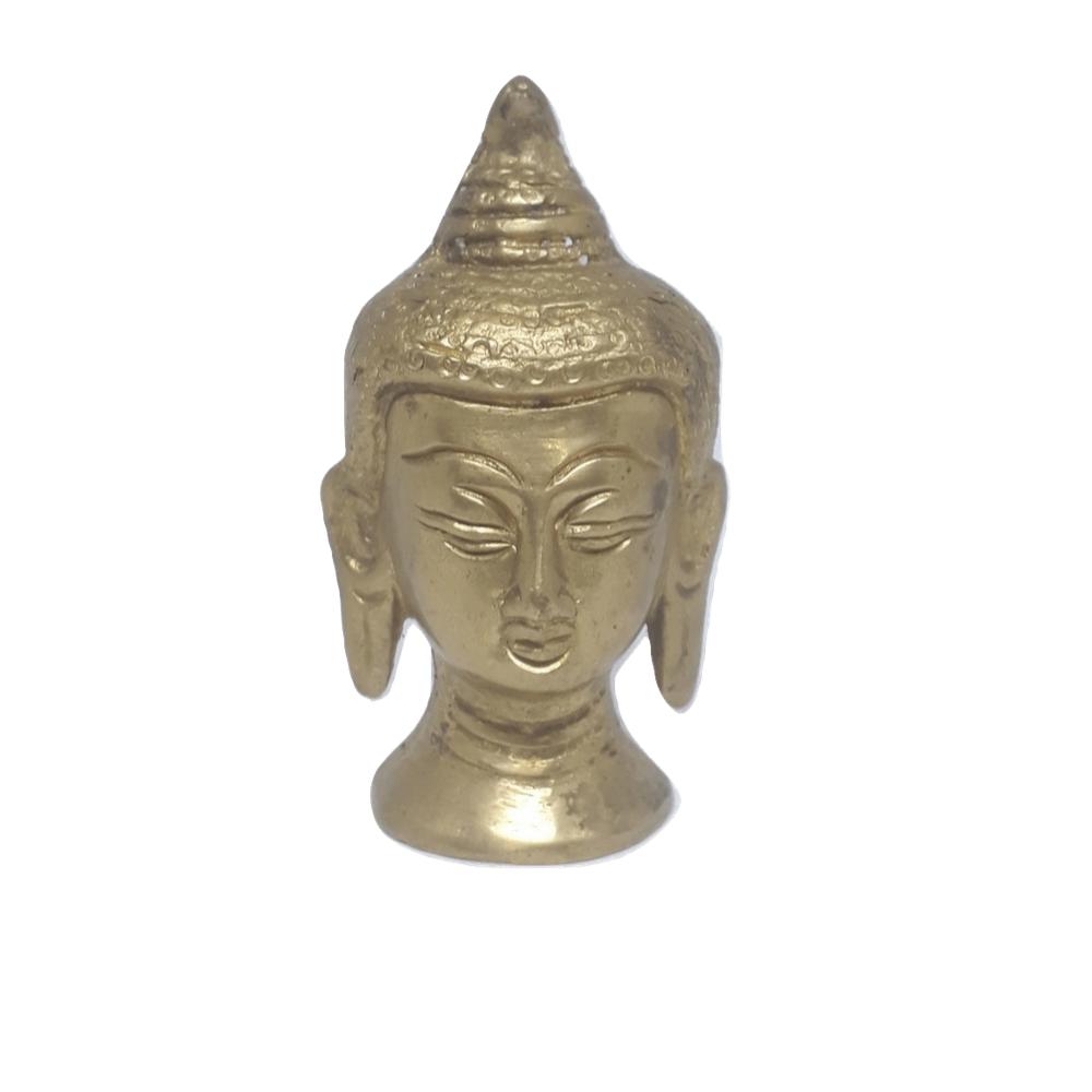 Cabeça de Buda de Bronze Decoração