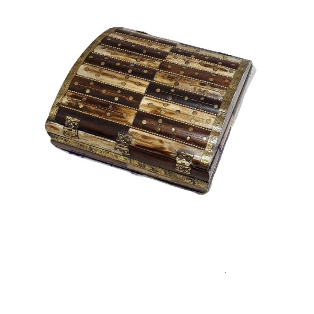 Caixa Indiana de Osso Polido 20 x 20 Cm