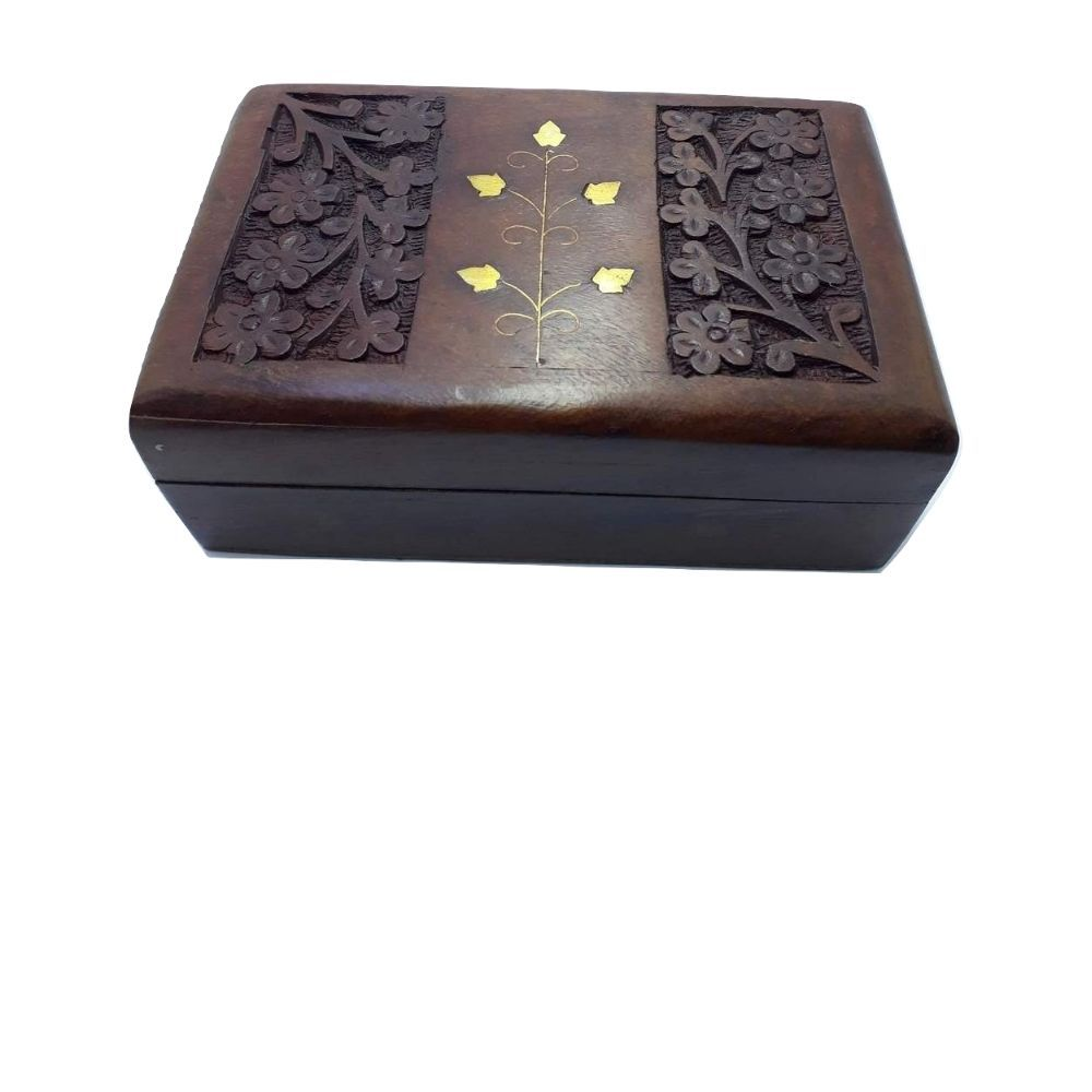Caixa Retangular De Madeira 15 Cm Indiana