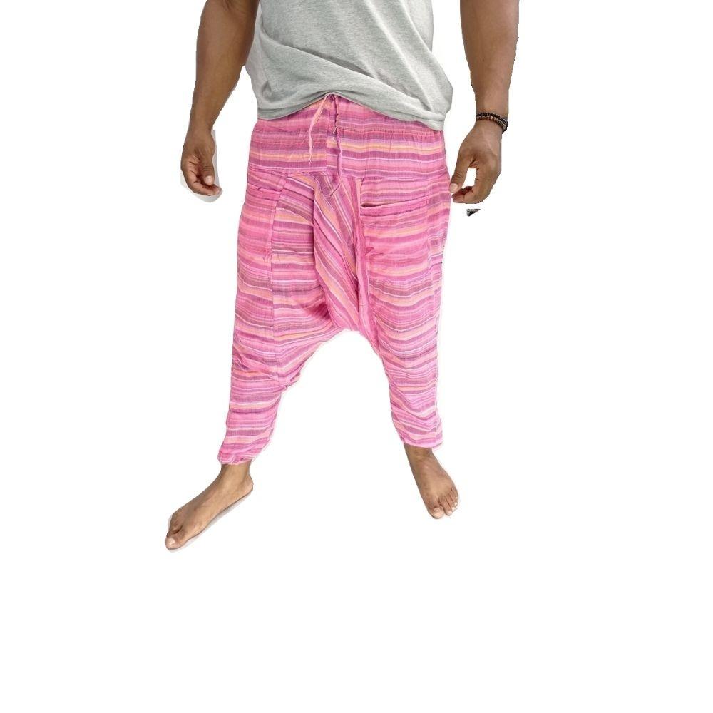Calça Tay Yoga e Meditação de Algodão Rosa