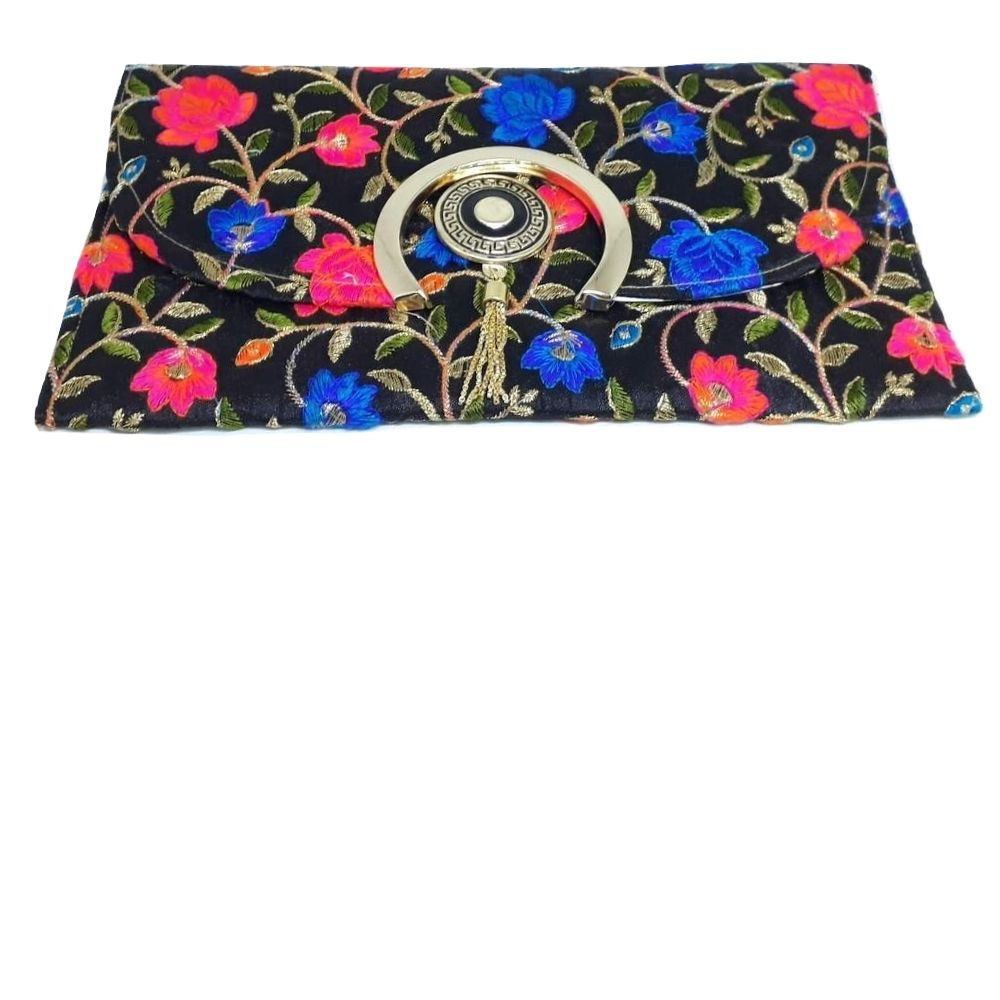 CarteiraTiracolo Indiana Clutch Bordada