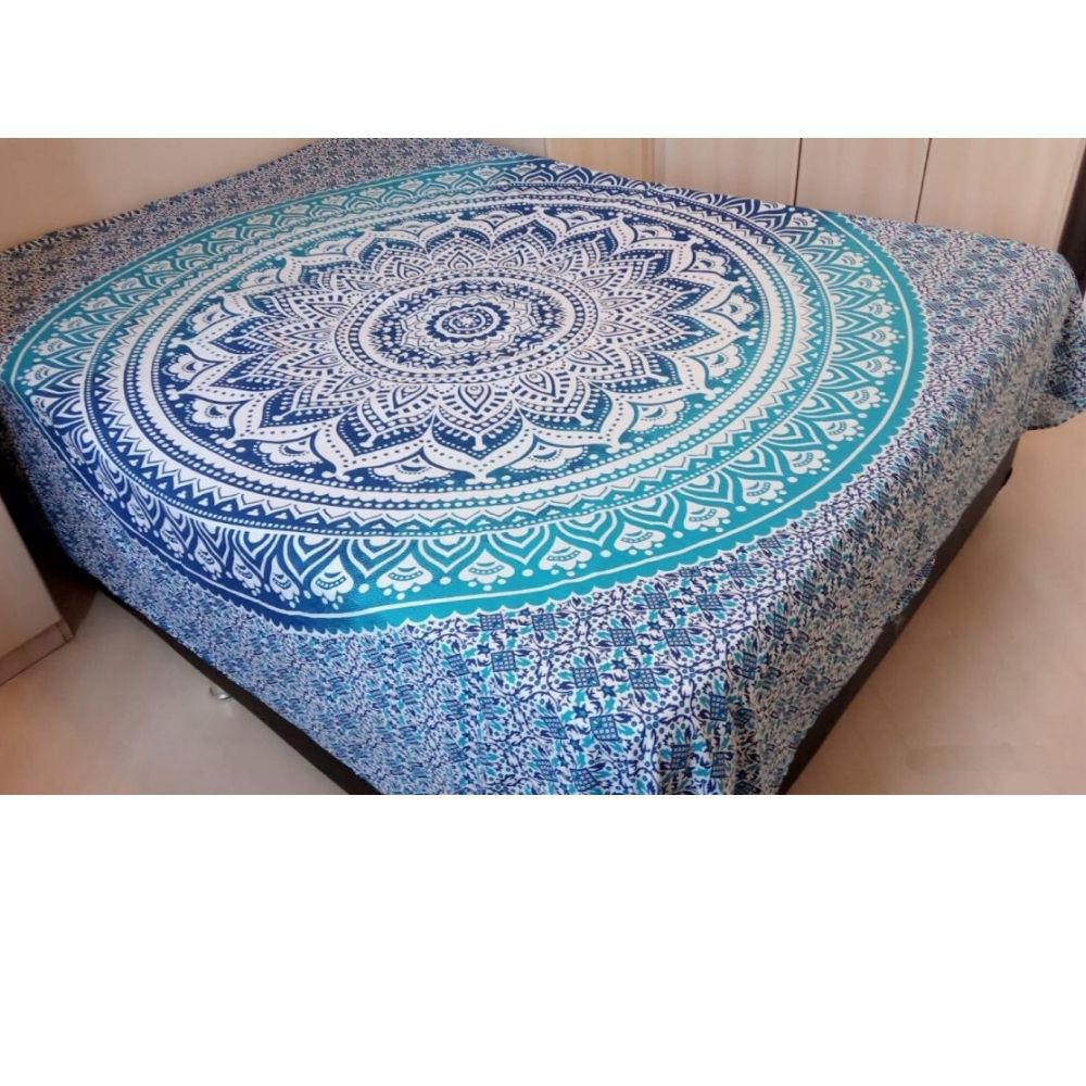 Colcha Indiana  Mandala Azul