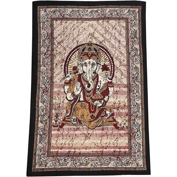 Colcha Indiana Para Cama Casal Ganesha 210x230 Cm