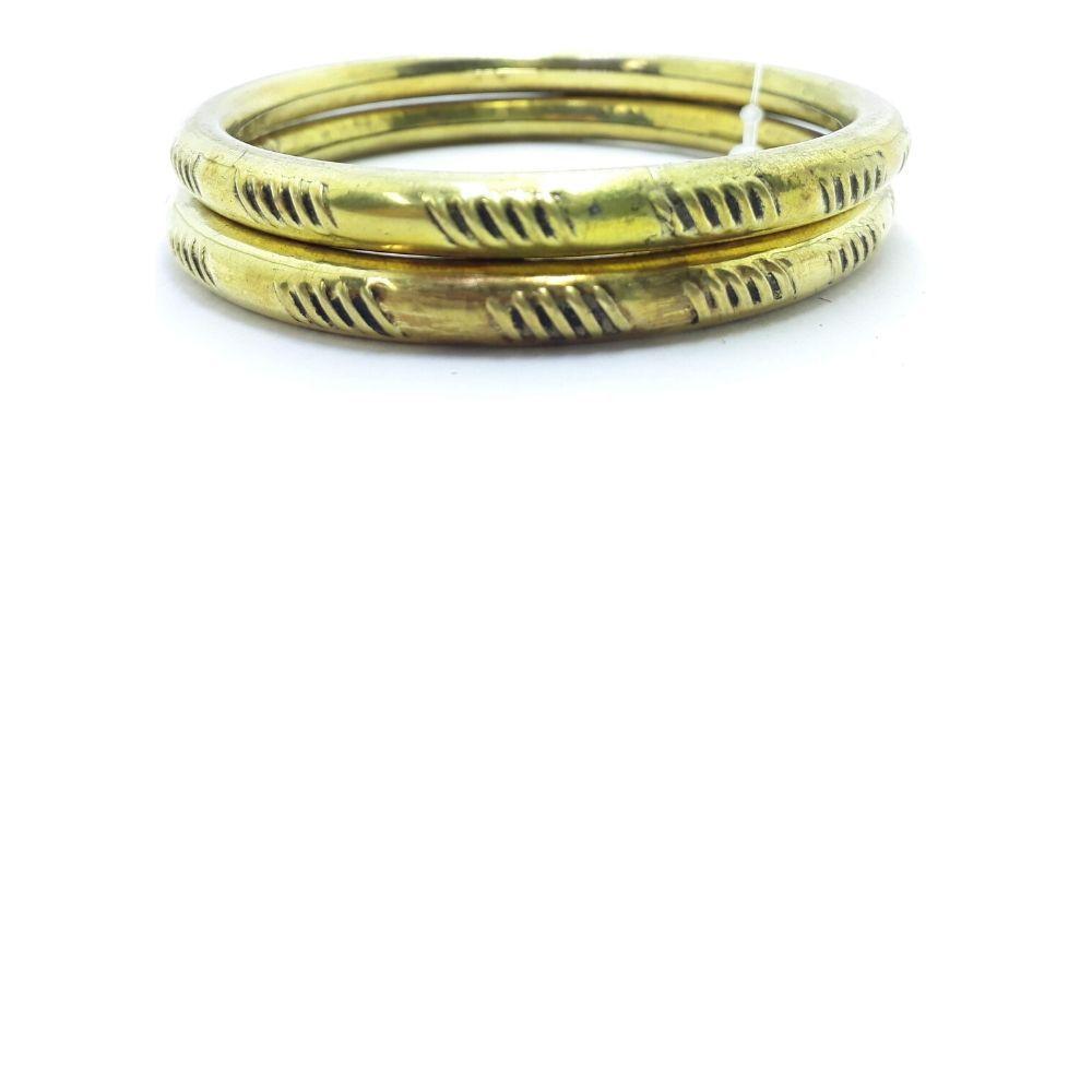 Conjunto de Pulseiras Feminina Indiana Dourada 8 Cm
