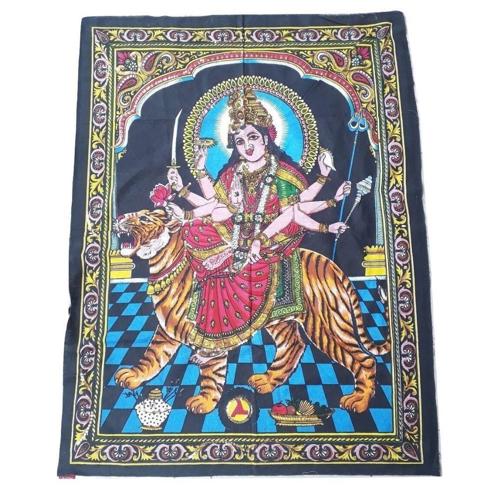 Deusa Durga de Tecido