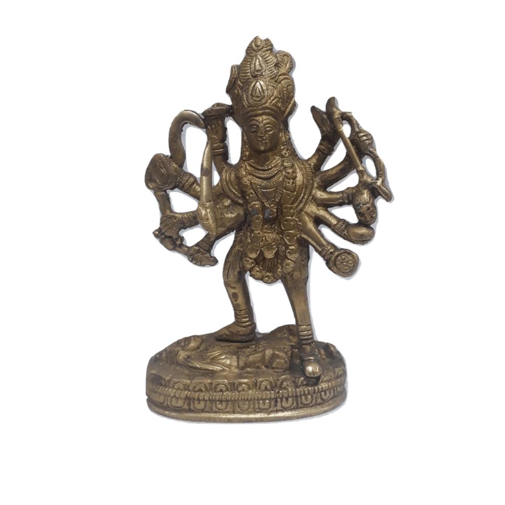 Deusa Kali de Bronze 16 cm