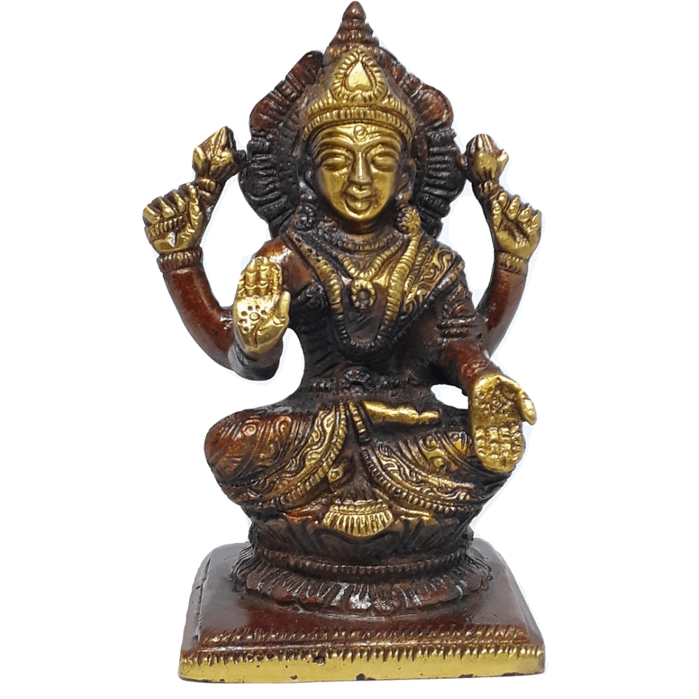 Deusa Lakshmi 10 cm Bronze
