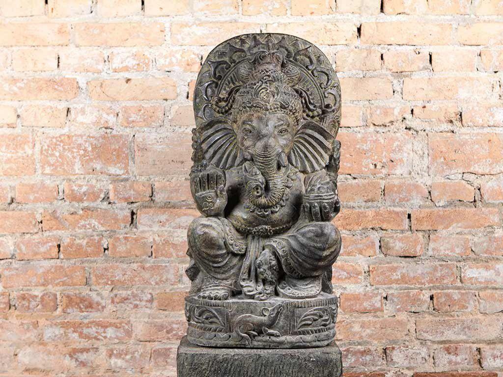 Escultura de Ganesh em Pedra