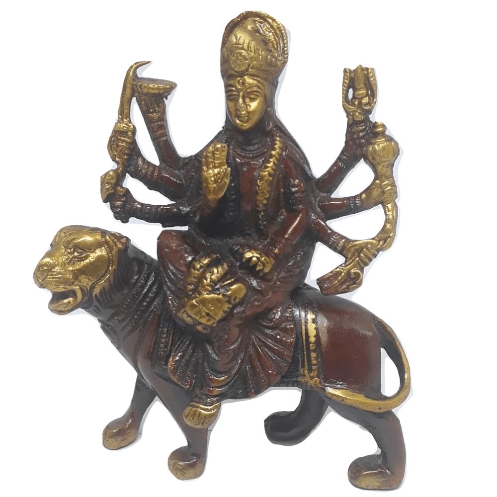 Estatua da Deusa Durga 15Cm Bronze