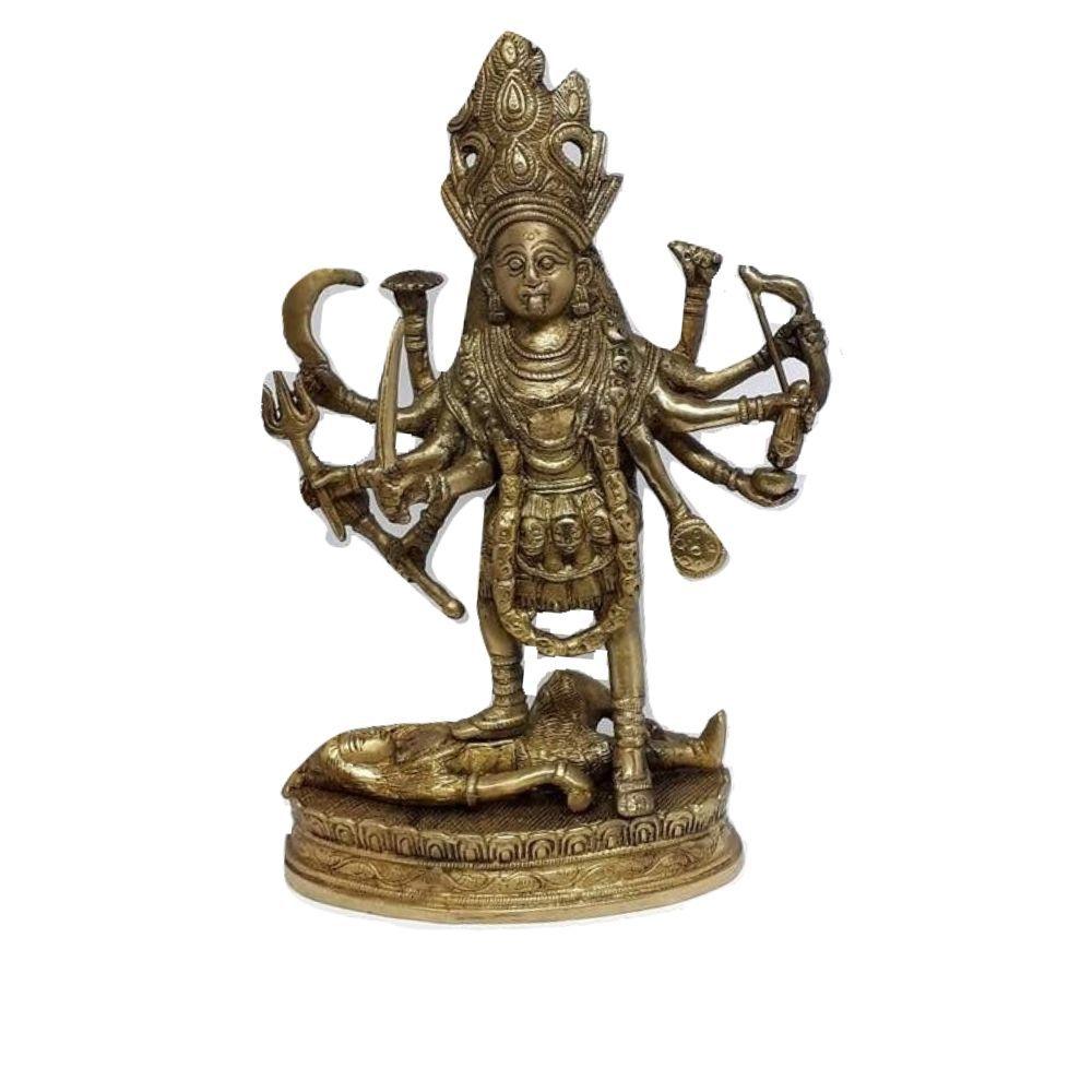 Estátua da Deusa Kali de Bonze 30 Cm