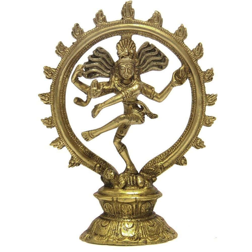 Estátua De Bronze Shiva Nataraja 19 Cm