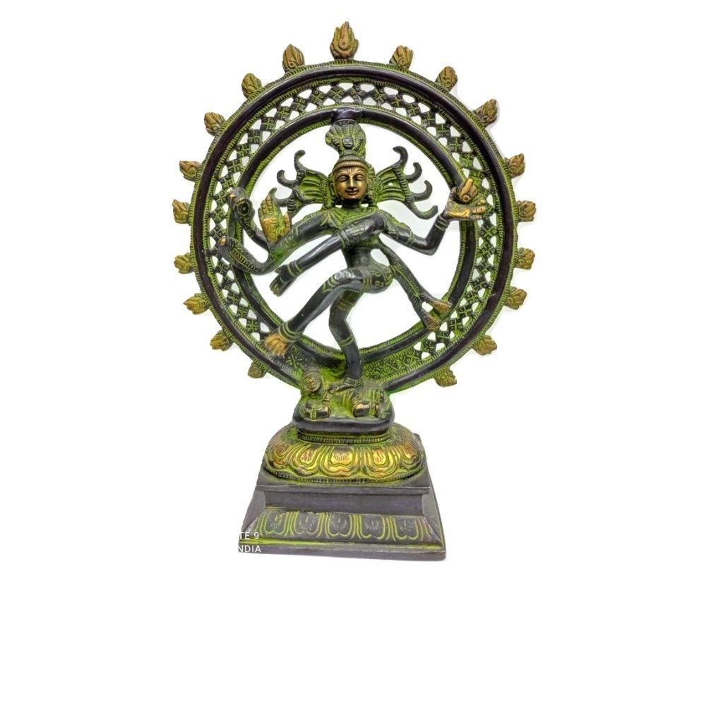 Estátua De Bronze Shiva Nataraja 30 Cm