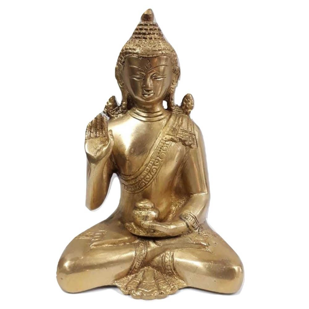 Estátua De Buda Feita De Bronze