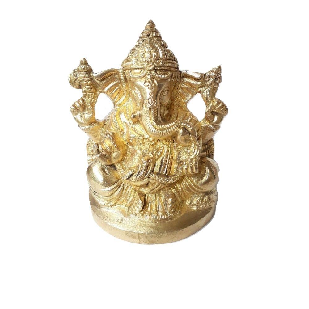 Estátua de Ganesha de Bronze 9Cm