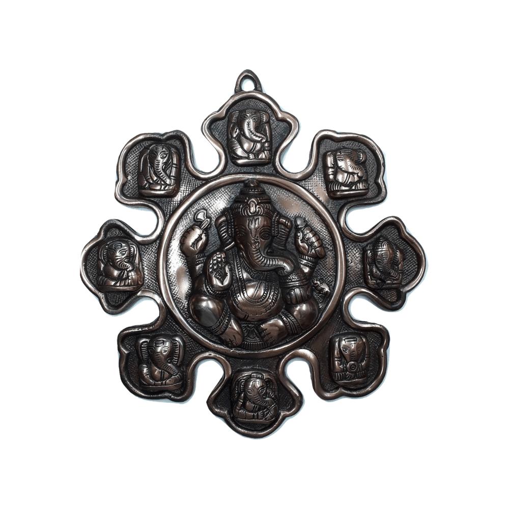 Estátua de Ganesha Metal Cobre 29 Cm