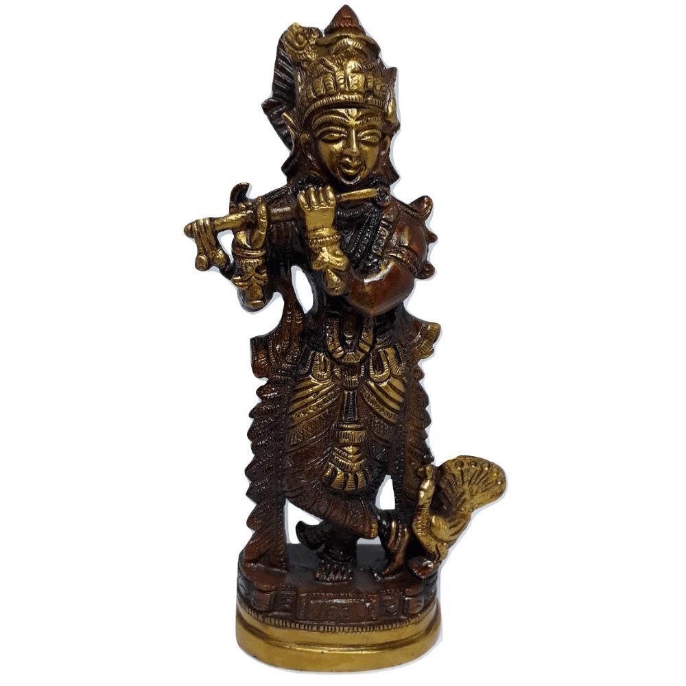 Estatua Krishna De Bronze