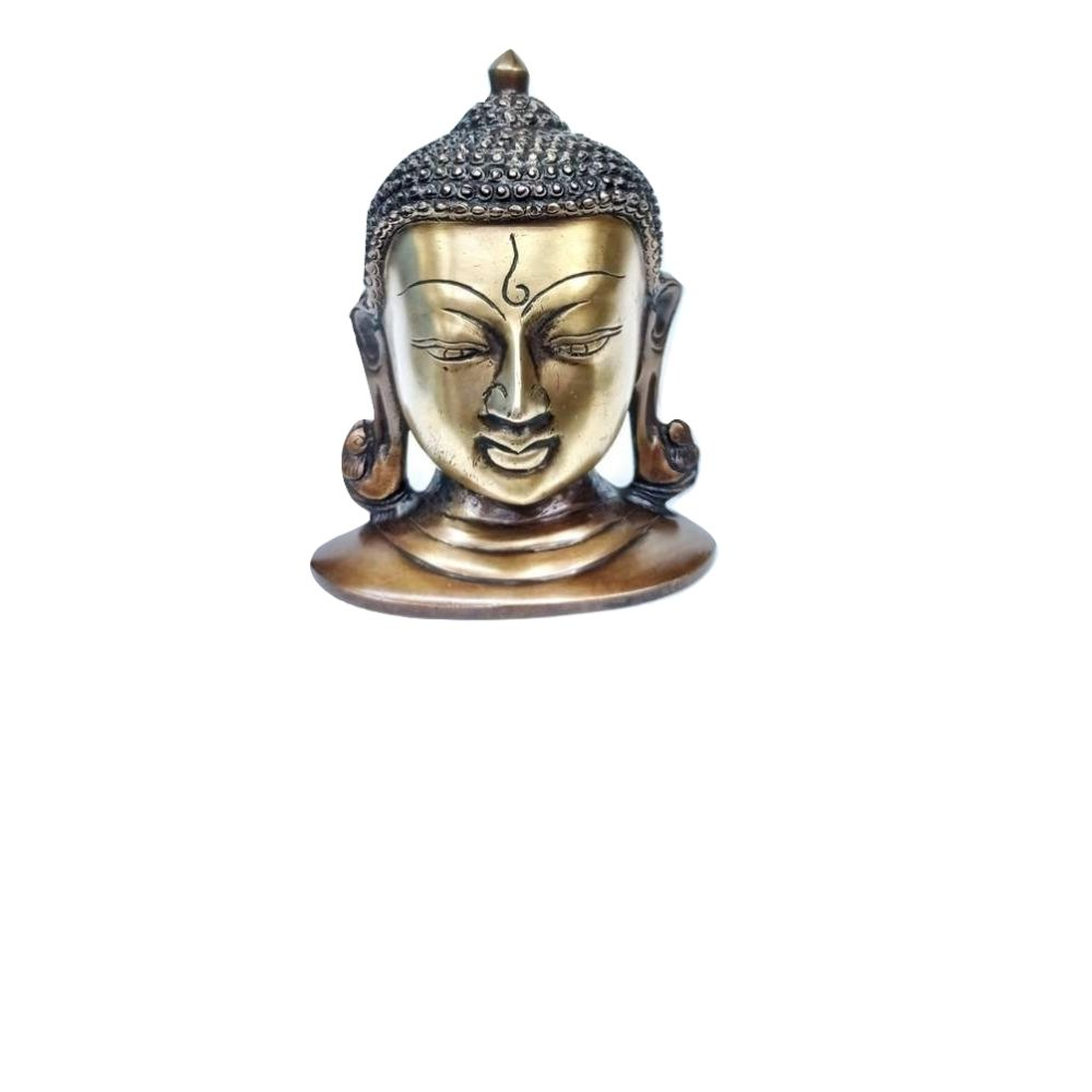 Face de Buda De Bronze 16 Cm