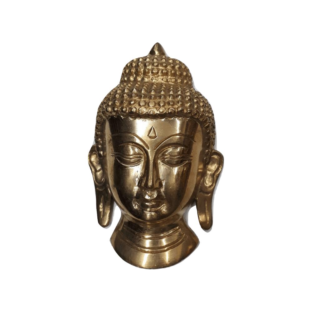 Face de Buda de Bronze Decoração 14 cm