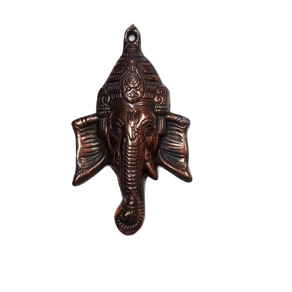 Face de Ganesha de Cobre 19 cm