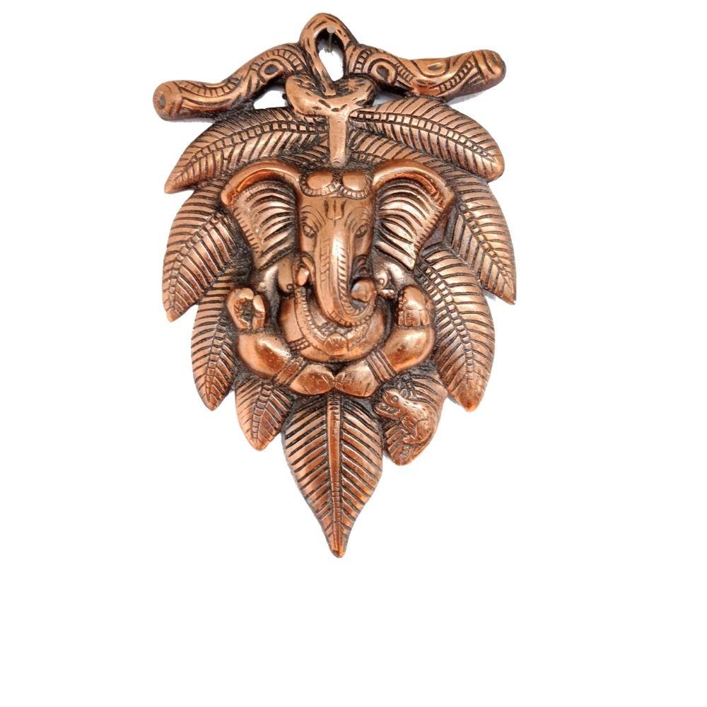 Face de Ganesha de Cobre 22 cm