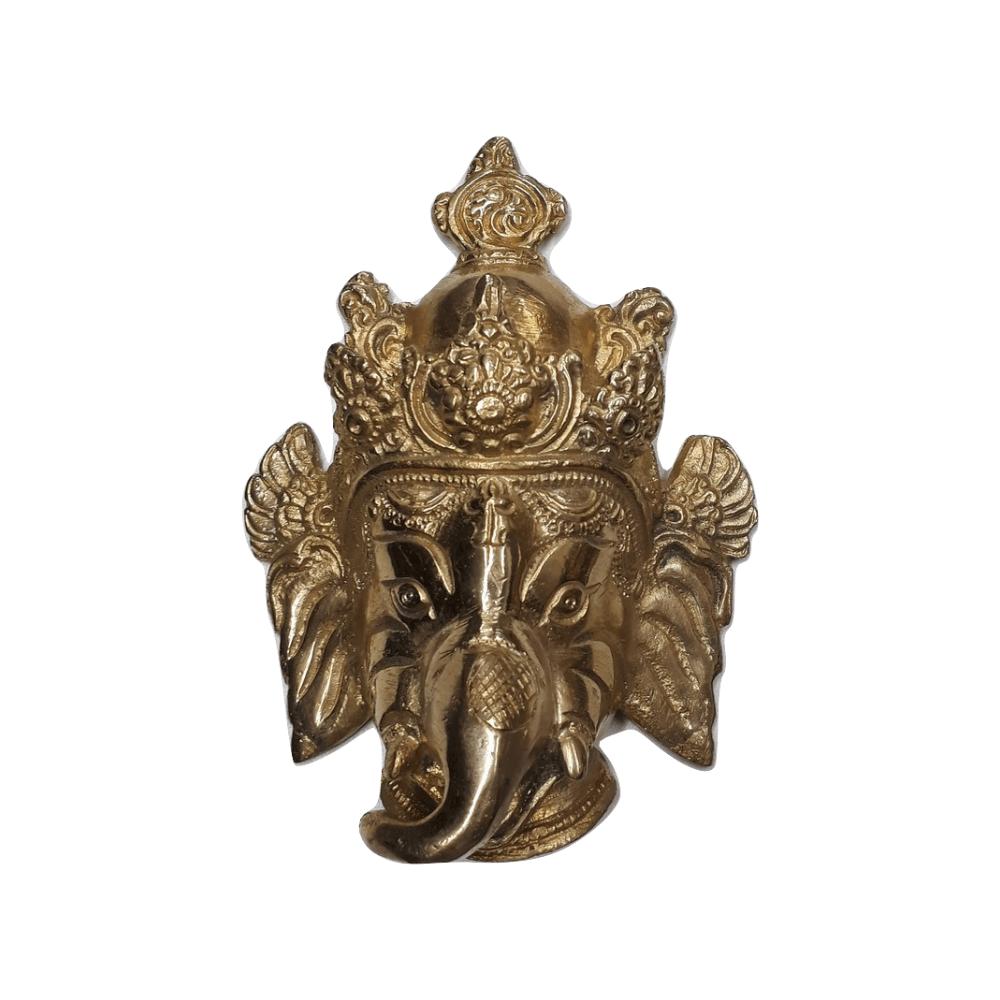 Face de Ganesha Decoração 13 Cm Bronze