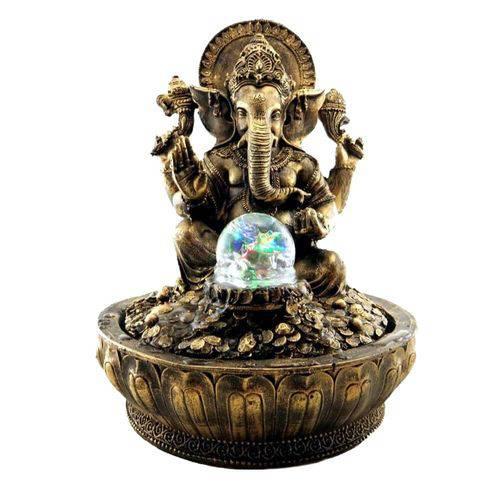 Fonte de Ganesha Com Bola de Vidro