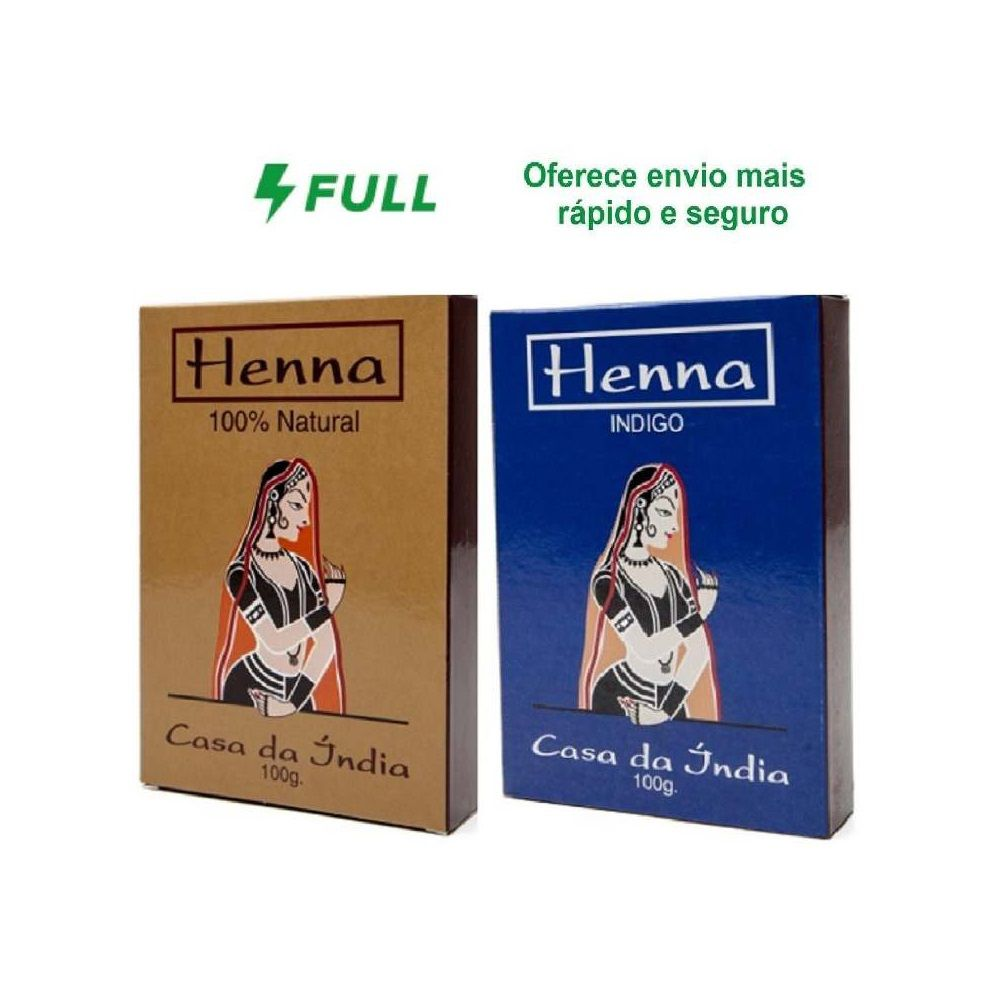 Henna Indiana Para Cabelos 100% Natural E Índigo