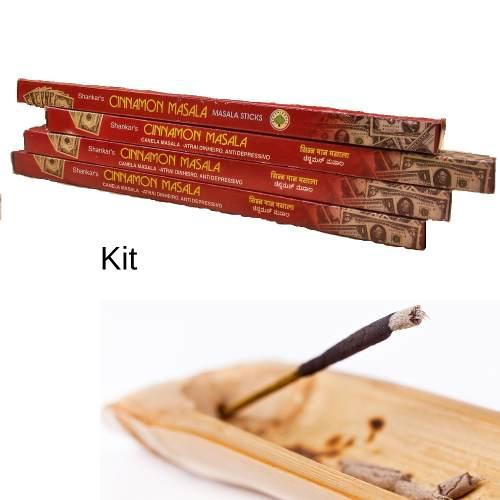 Incenso Cinnamon Massala + Suporte De Incenso