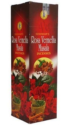 incenso de rosa vermelha massala shankar