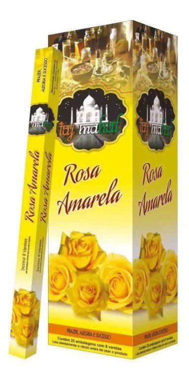 Incenso Taj Mahal Rosa Amarela