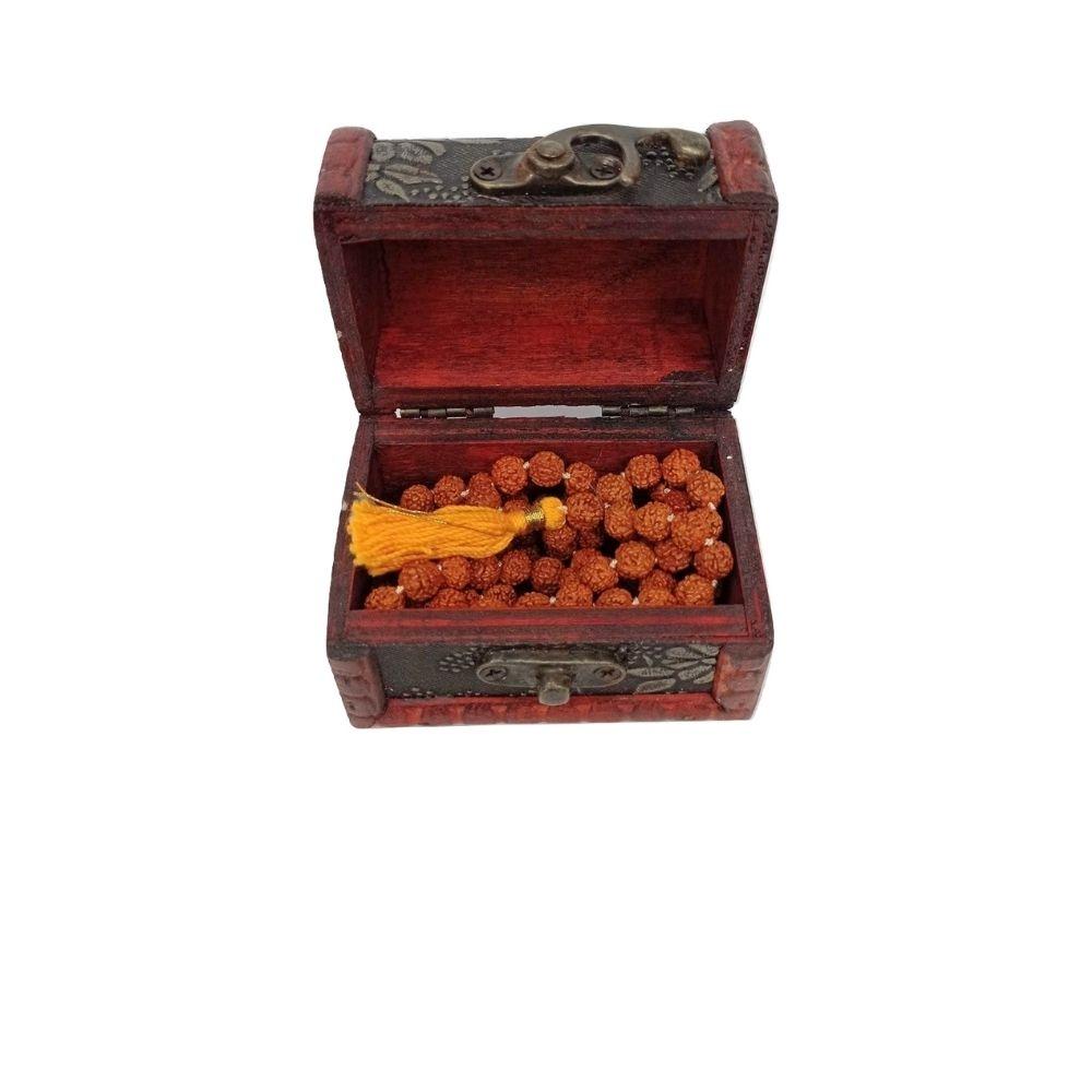 JapaMala Com  108 Contas Rudraksha Hindu + Caixinha