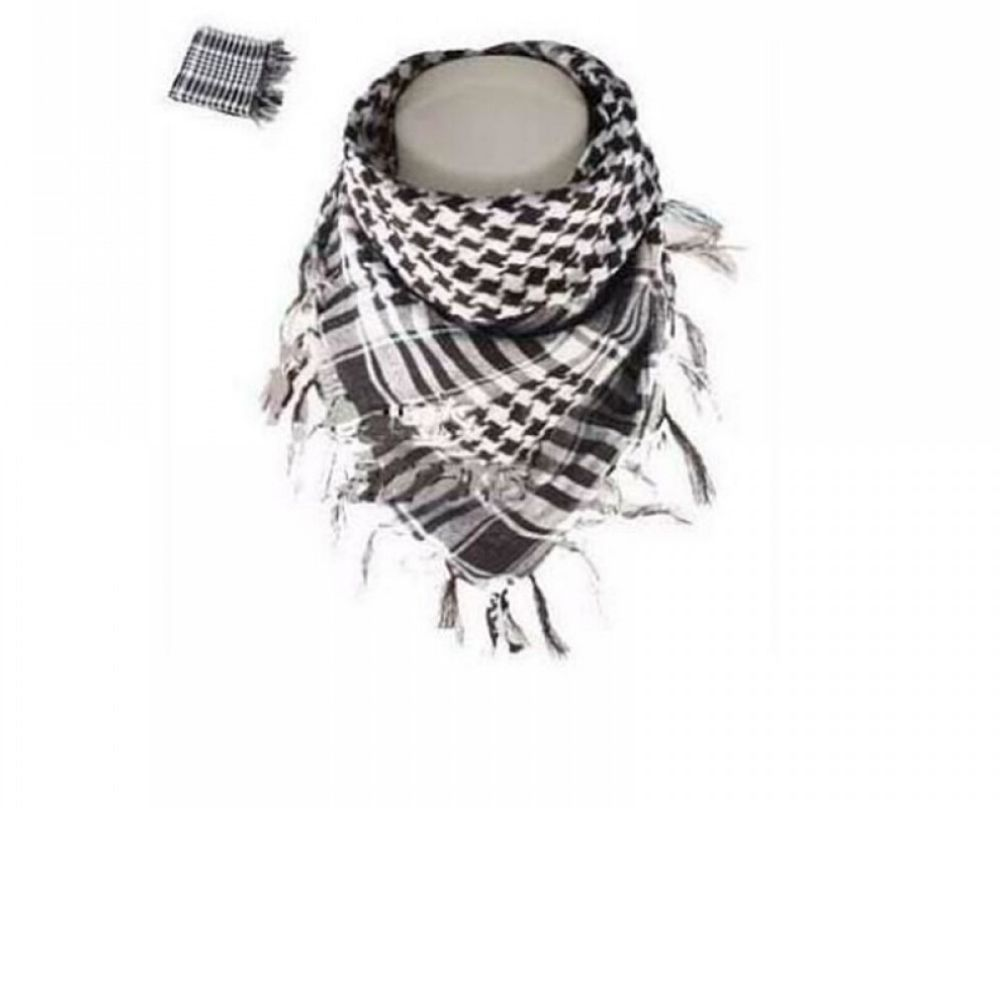 Lenço Palestino Preto e Branco de Algodão 100%