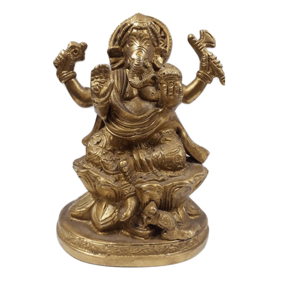 Lord Ganesha de Bronze 13 Cm