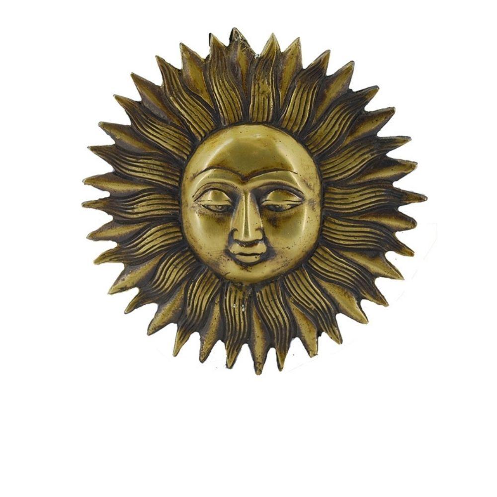 Mandala de bronze face do sol