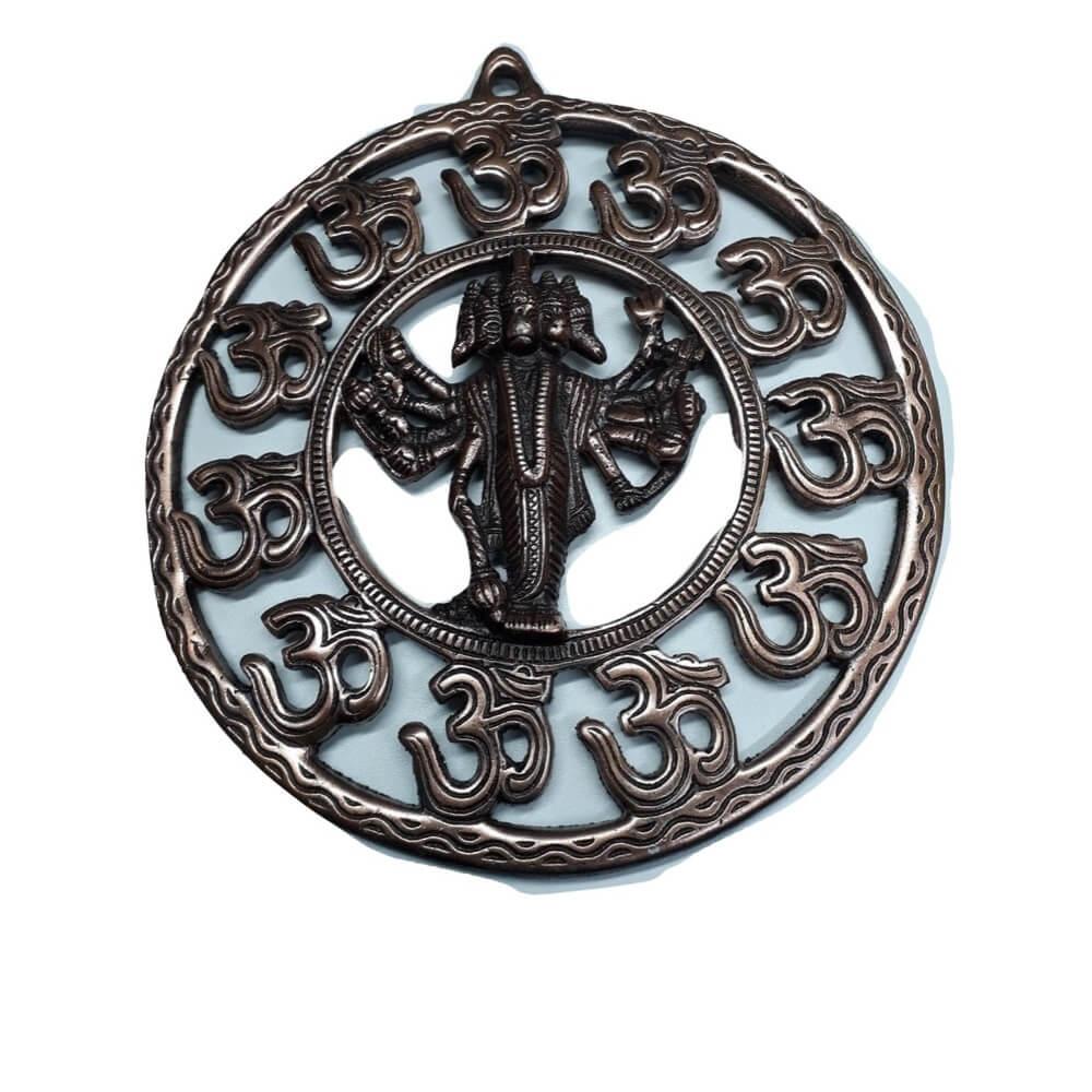 Mandala Deus Hanumam 23 cm Cobre