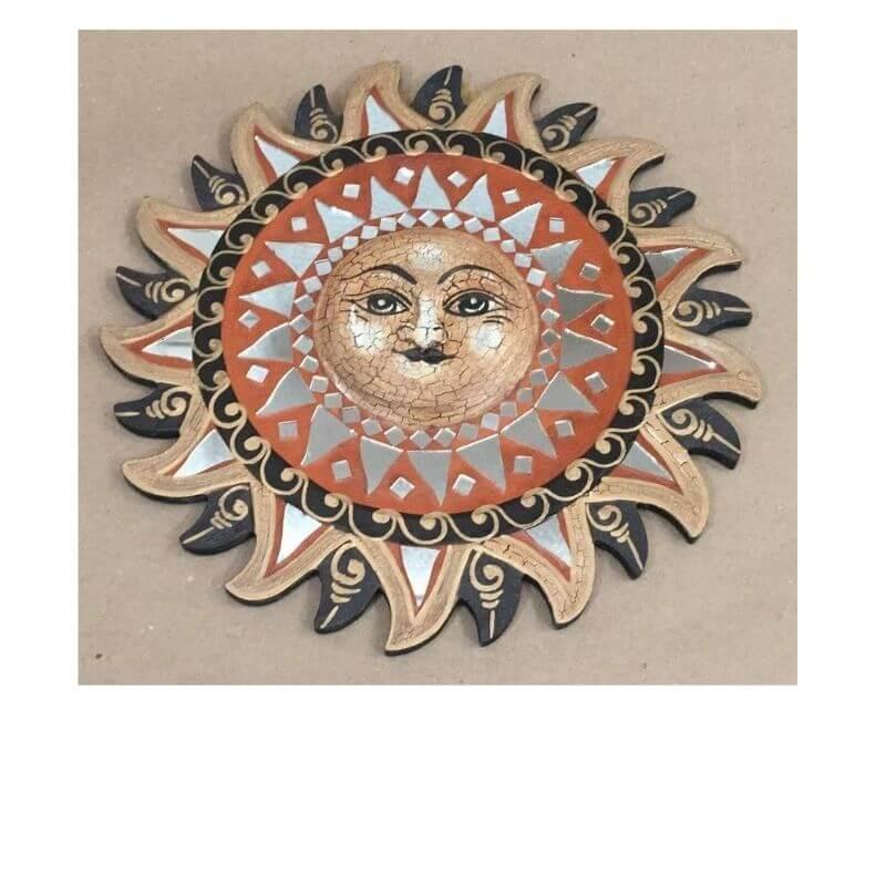 Mandala Sol  Espelho 30 Cm