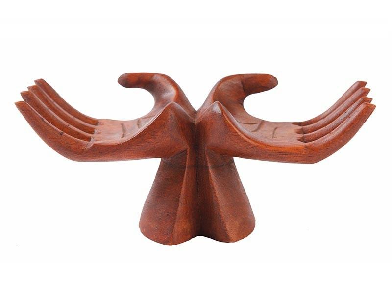 Mão Decorativa Entalhada na Madeira 20 Cm