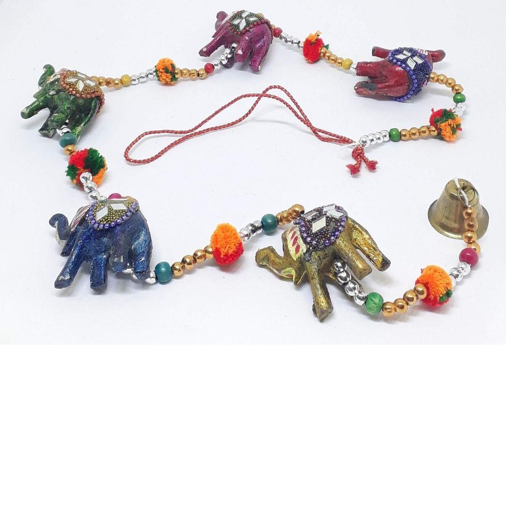 Mobile Elefantinhos Indiano Espelhinhos