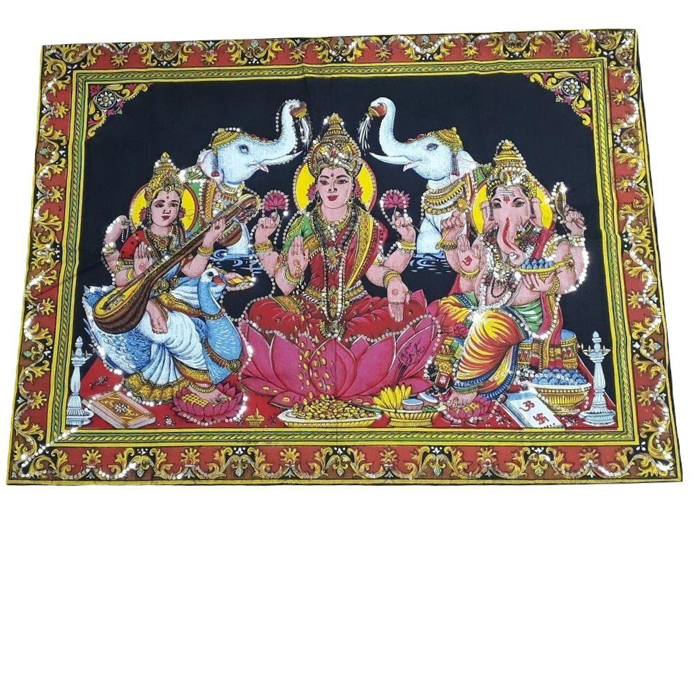 Painel de Ganesha/ Sarasvati/ Lakshmi