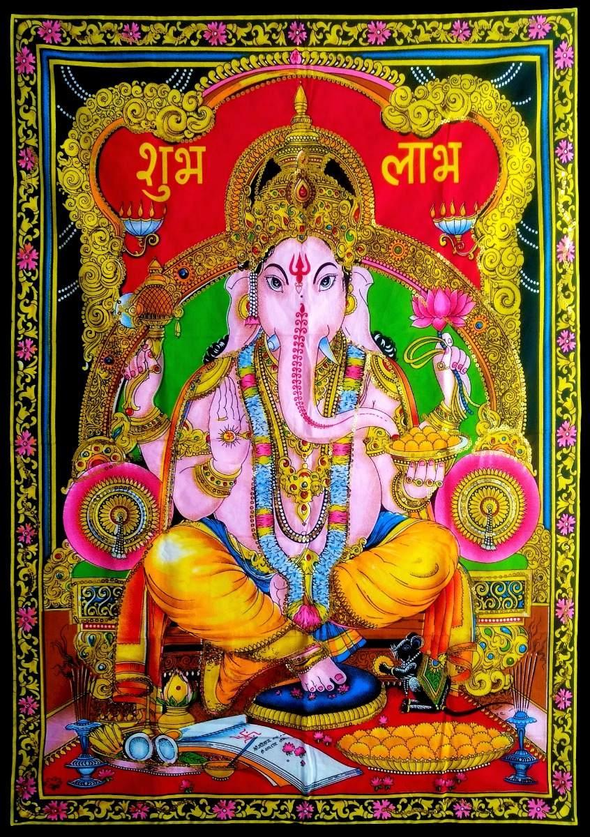 Painel Lord Ganesha Tecido 110x78cm