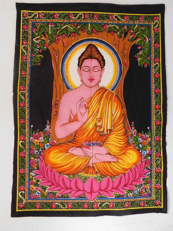 Pano de Buda Meditando