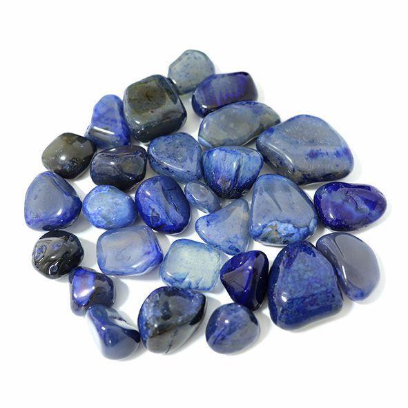 Pedra Ágata Azul - Pacote 100g