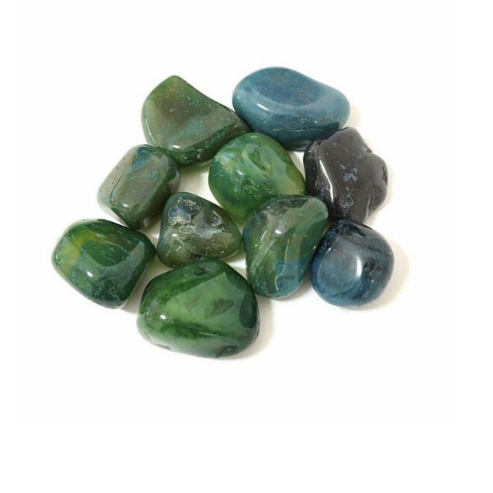 Pedra Ágata Verde - Pacote 100g