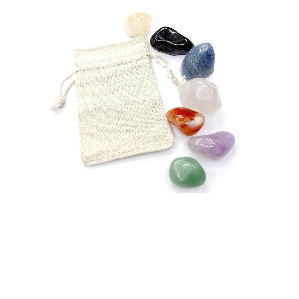 Pedras Dos Sete Chakras 7 Tipos De Pedras + Saquinho