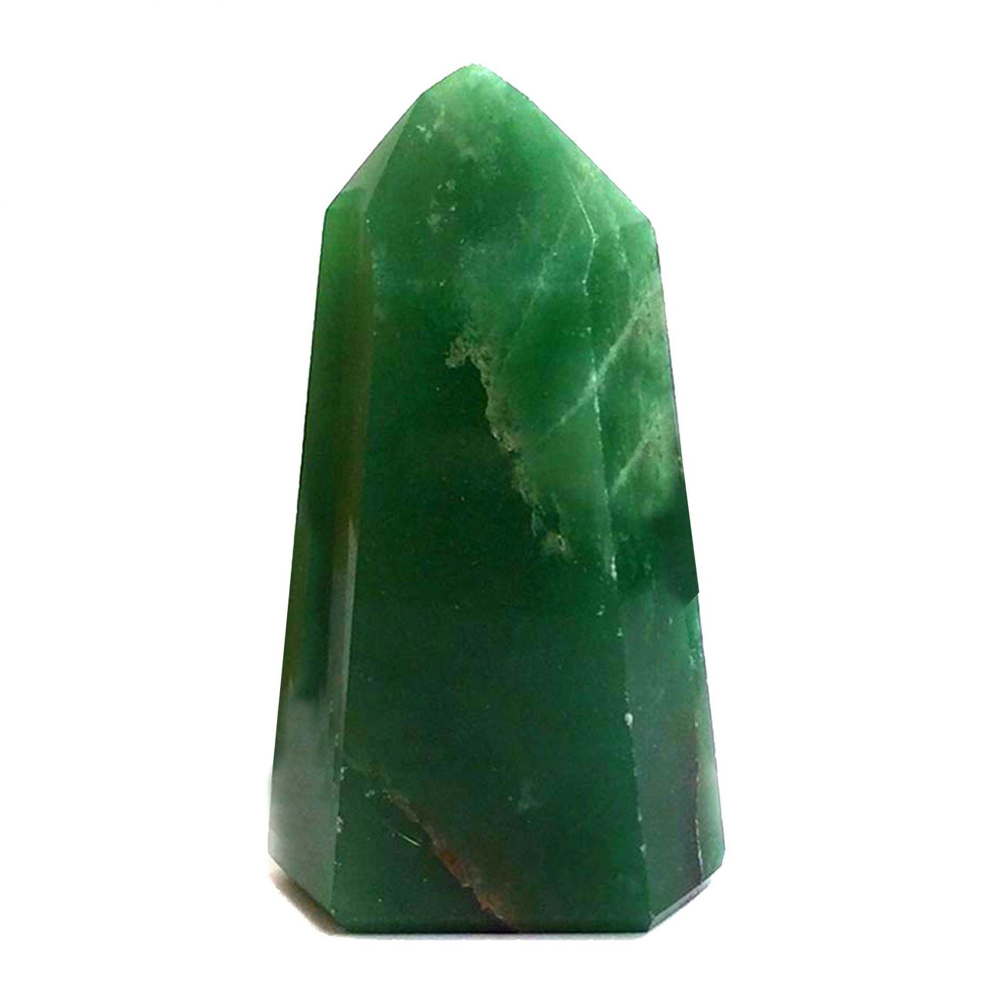 Ponta Natural Cristal Pedra Quartzo Verde Cura Energia