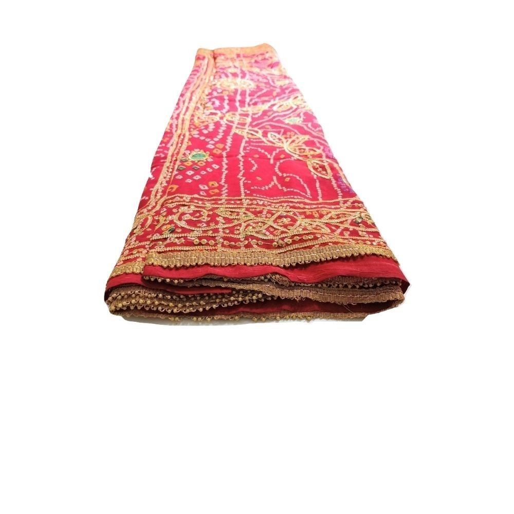 Saree Indiano Bordado Vermelho