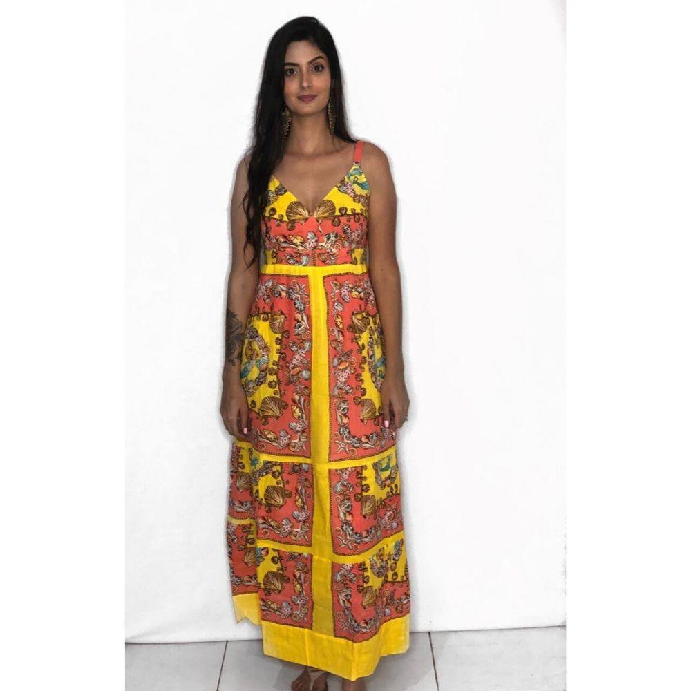 Vestido Indiano Longo de Algodão