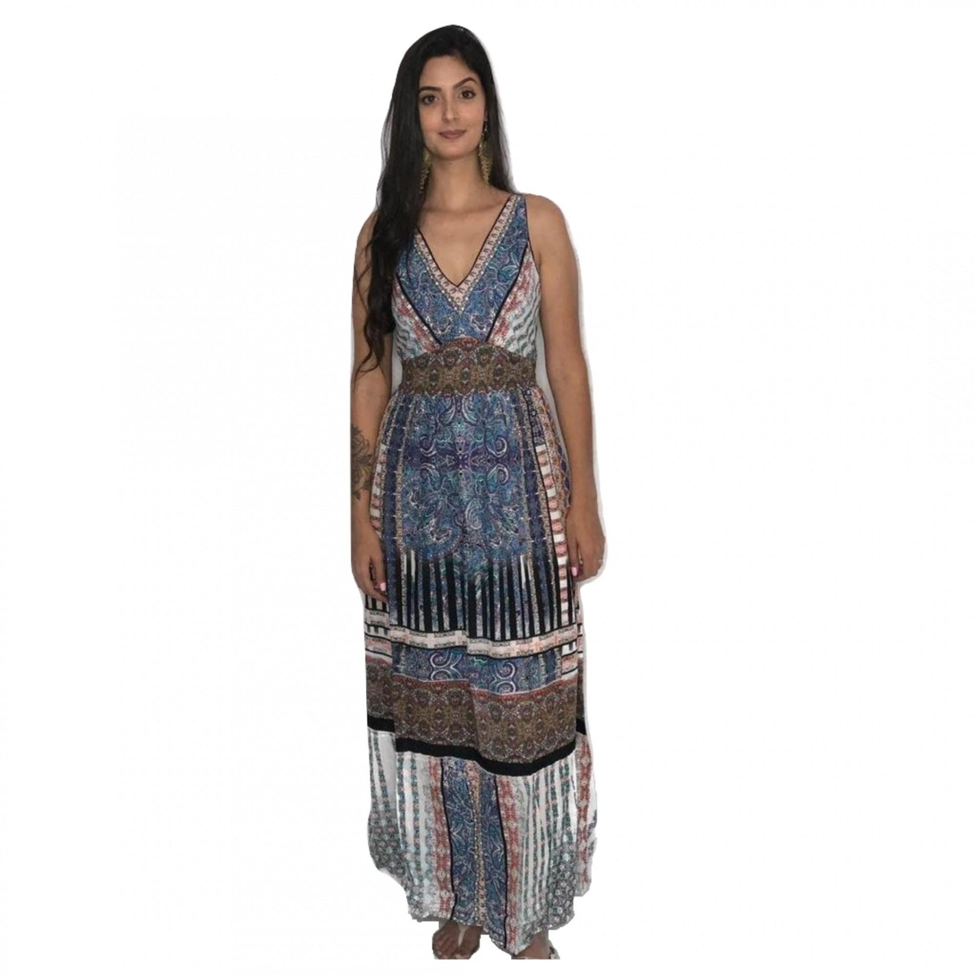 Vestido Longo Indiano de Algodão