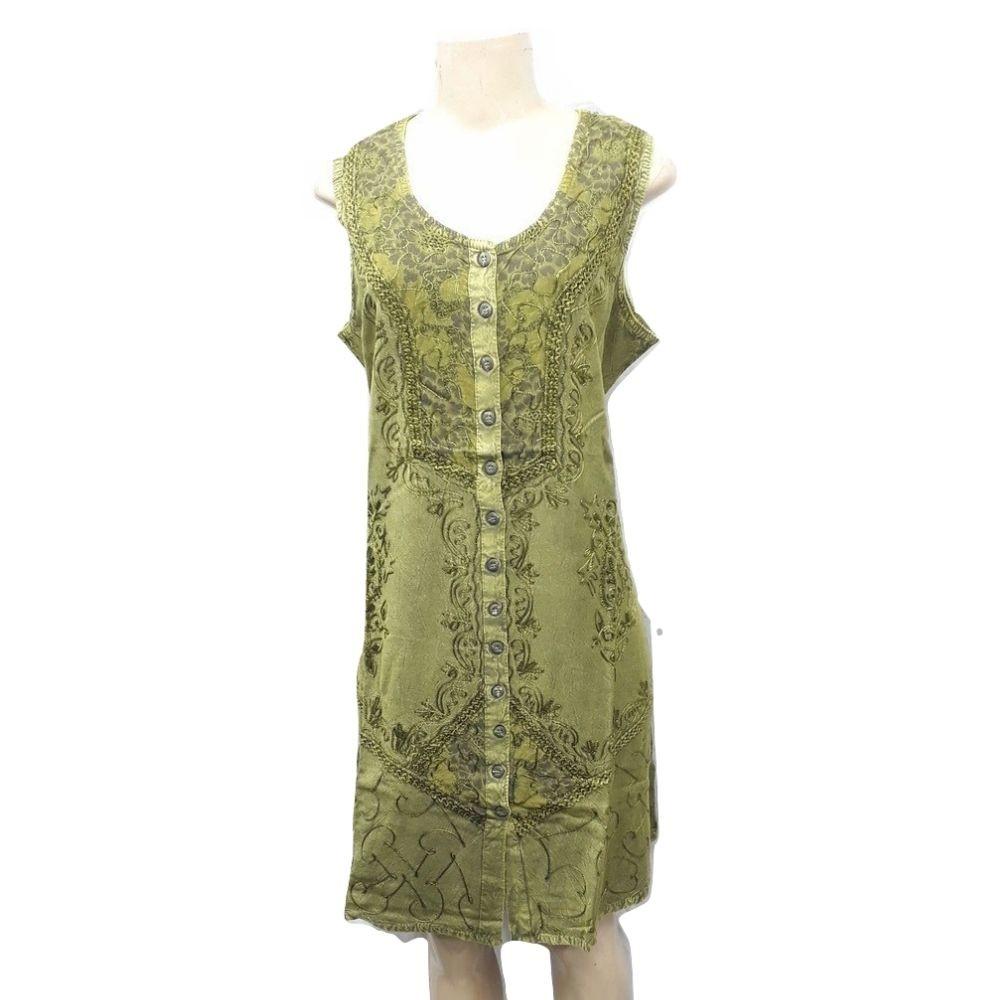 Vestido Verde Indiano Curto
